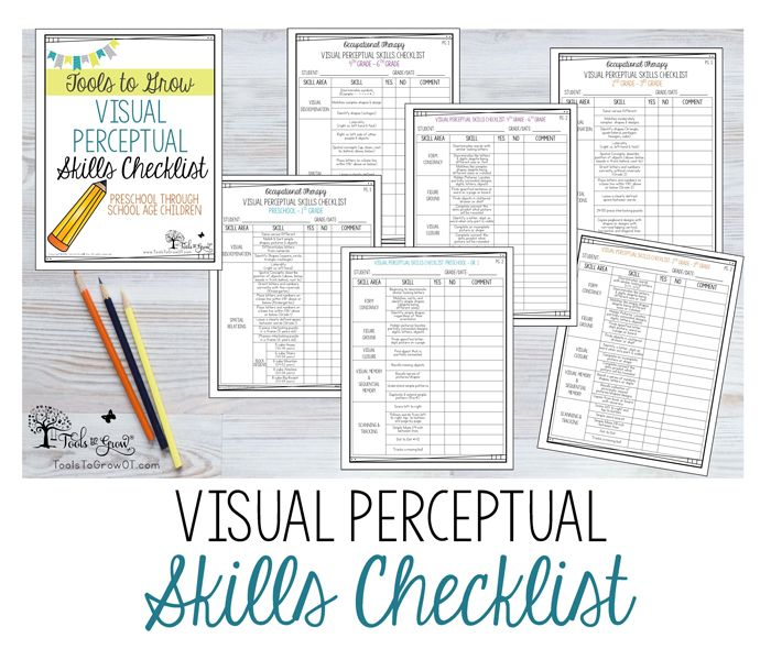 Occupational Therapy Assessment Checklists (School Based & Early ...