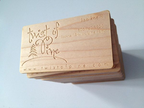 The Perfect Fit Pine On Pine Laser Engraved Business Cards Wood Business Cards Diy Business Cards