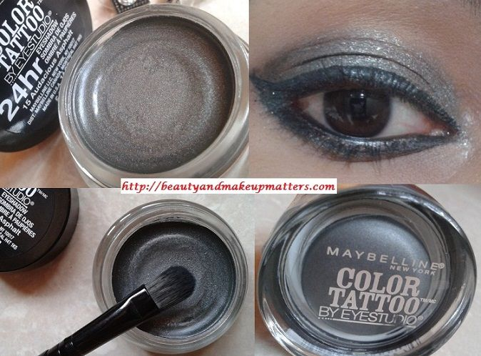 Maybelline Color Tattoo By Eye Studio 24 Hr Eye Shadow Audacious Asphalt 15 Review Swatches Eotd