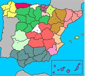 Mapa Provincias España Interactivo.Mapa Interactivo De Espana Comunidades Autonomas