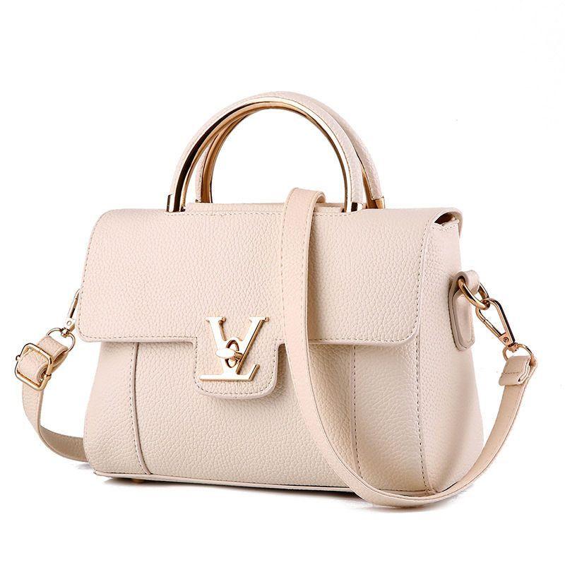 Hot fashion design hasp locks with V letter handbag flap bag 10 colors  elegant lady women s handbag shoulder bag messenger bag 1ebfa81bf6f26