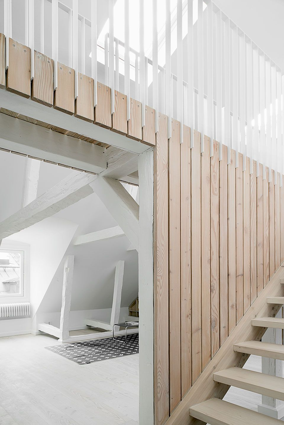 Design Interior Stairs Arch Wood Cladding Railings Stair Handrail