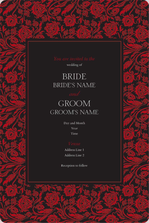 Rounded Corner Invitations | Wedding invitations | Pinterest | Weddings