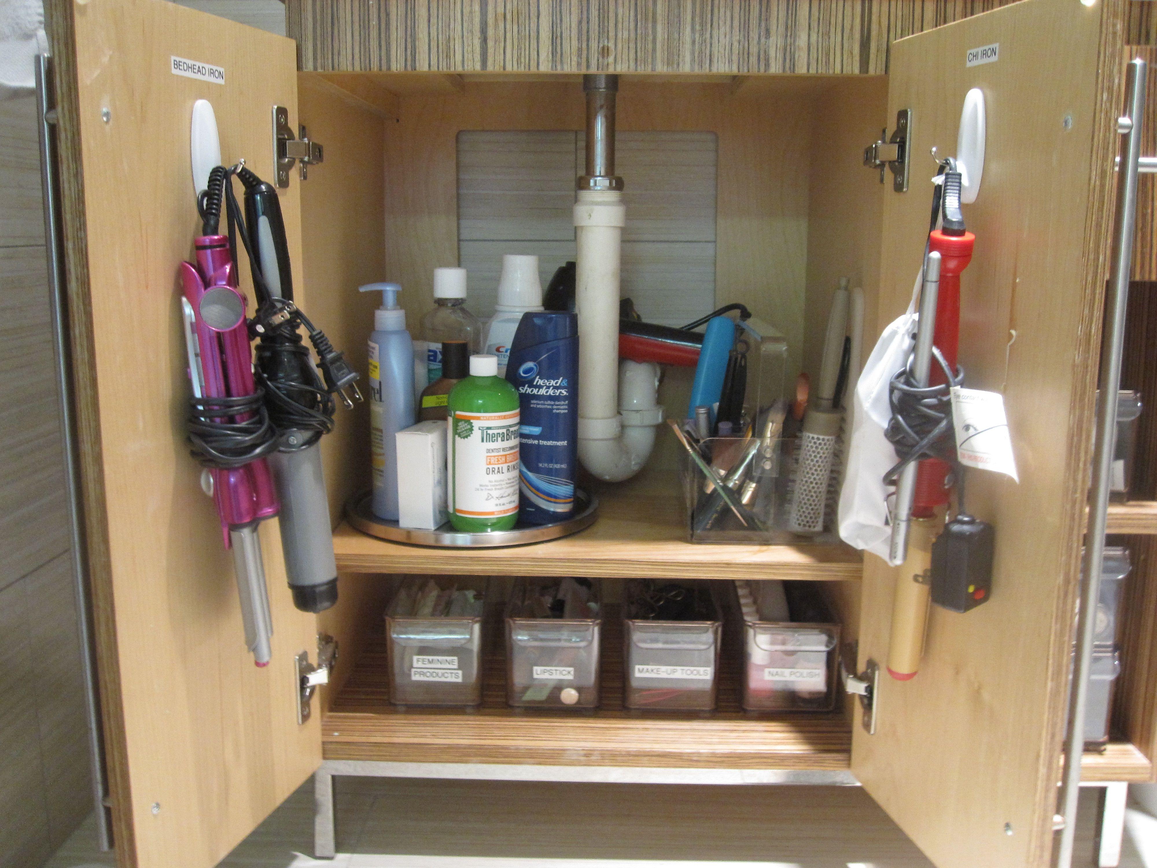 bathroom organization Organized bathroom cabinet