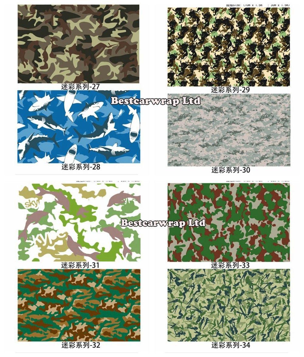 Camo Vinyl Wrap Black White Green Purple Camouflage Wraps 3 Vinyl Wrap Vinyl Wrap Car Truck Covers