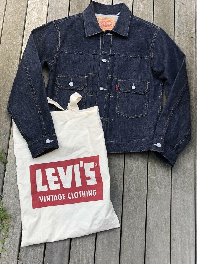 Levis Vintage Clothing Lvc 1953 Type 2 Jacket 507xx 38 Selvedge Usa Made Levis Vintage Clothing Vintage Clothing Men Vintage Outfits