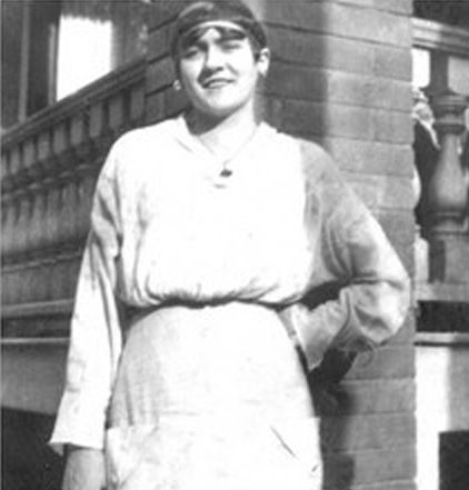 Survivor Laura M. Cribb, third class passenger. She was 16 years old. Boarded Titanic with her father, John Hatfield Cribb. She survived, her father did not.