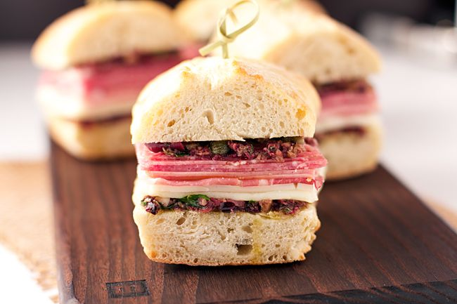 Italian Sandwich with Olive Tapenade - dang that's delicious