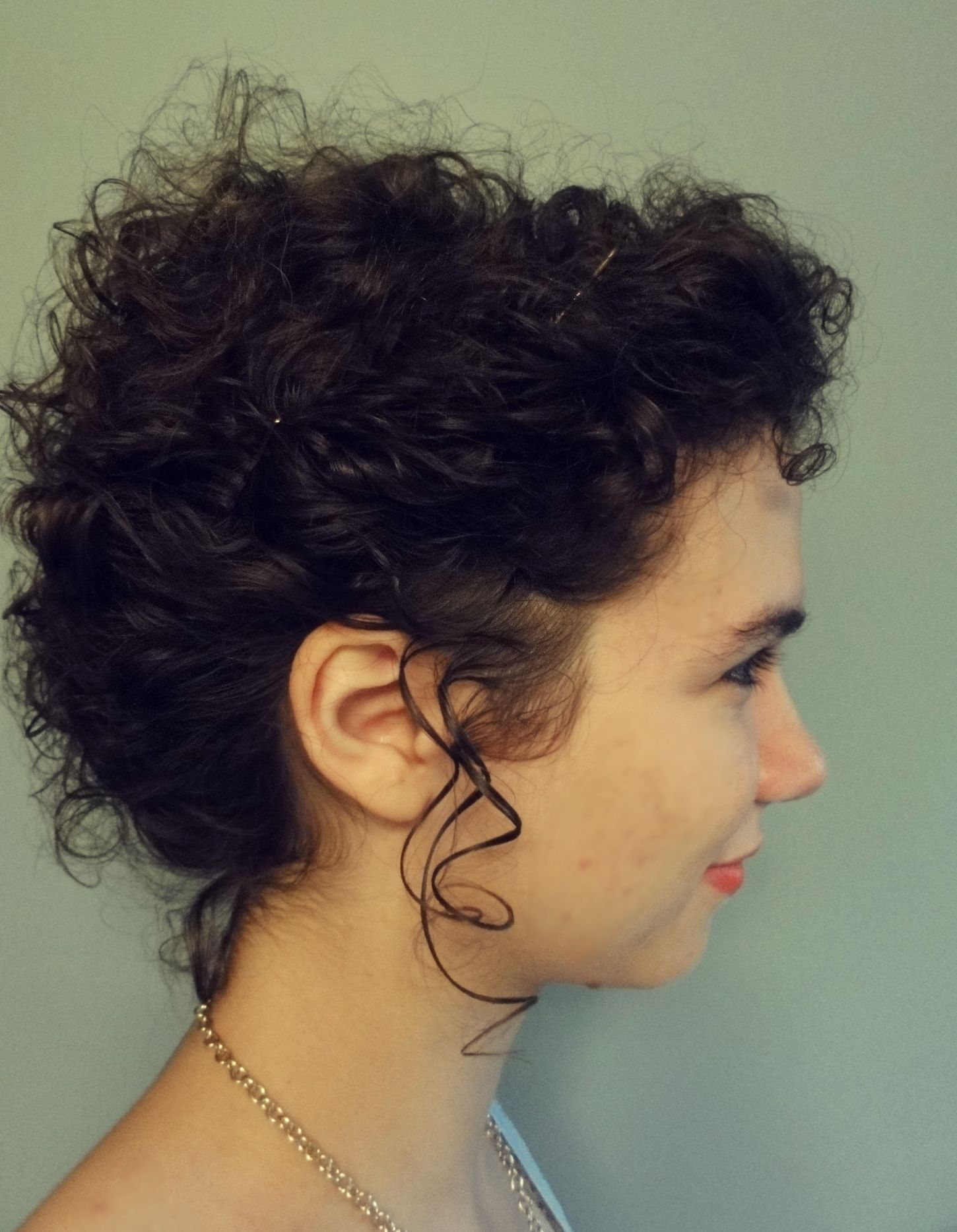 Love Your Curls Curly Hair Up Curly Hair Styles Short Curly Hair Updo