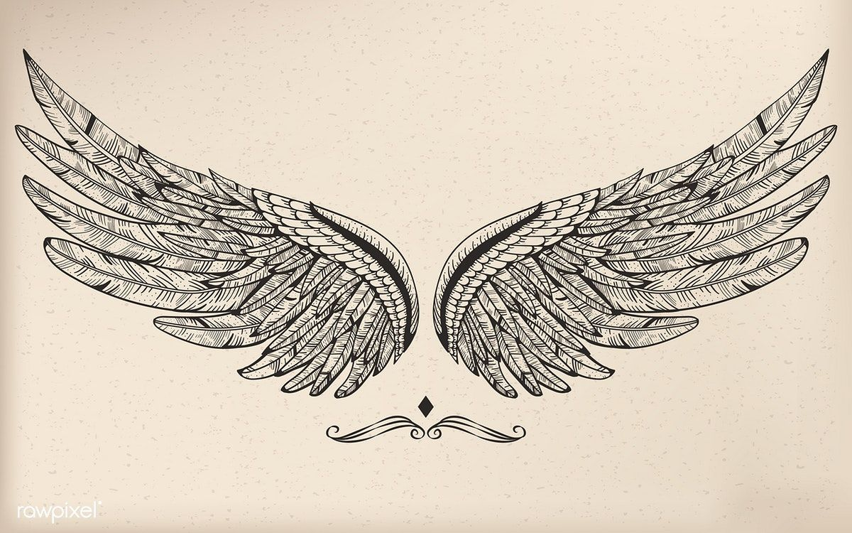 download premium vector of vintage vector wing 4335 wings tattoo neck tattoo tattoos vintage vector wing 4335 wings tattoo