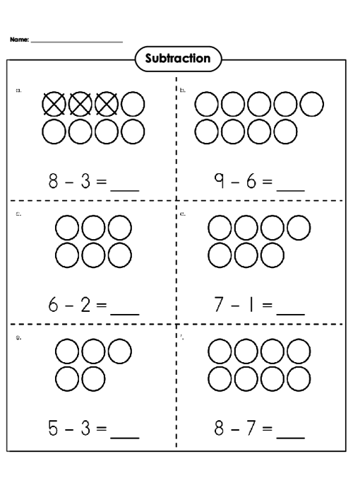 basic subtraction worksheet  subtraction  pinterest  subtraction  introduce the concept of subtraction with visuals basicsubtraction  subtraction subtractionpractice subtractionwithvisuals freemathworksheets