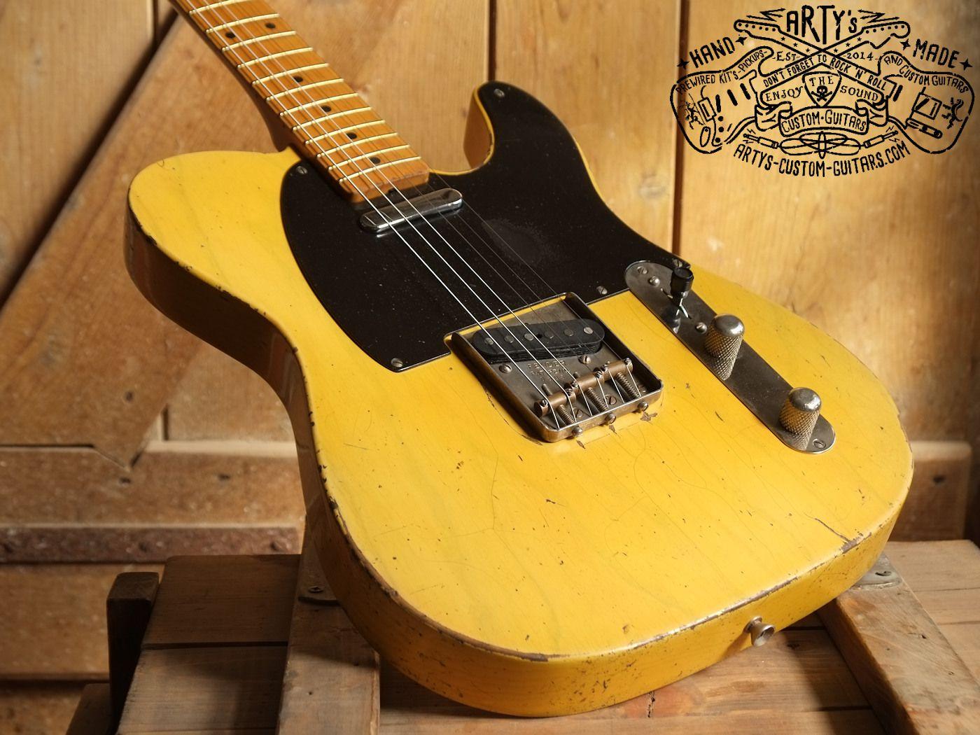 Nocaster 1950 Arty S Relic Repro Broadcaster Blackguard Tele Telecaster Arty S Custom Guitars Guitar Fender Vintage Telecaster