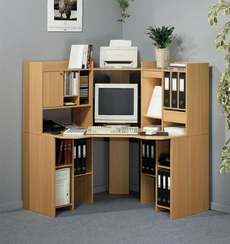 Plywood Corner Computer Desk Design With File Storage Cabinets For Entrancing Living Room Corner Furniture Designs 2018