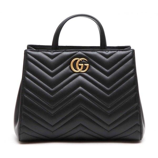Gucci 'Gg Marmont 2.0' With Strap ($1,754) ❤ liked on Polyvore featuring bags, handbags, real leather purses, strap purse, genuine leather handbags, leather purses and gucci
