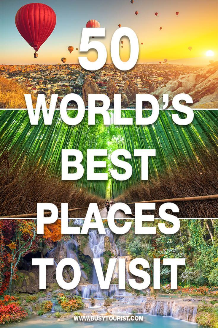 Looking for the best places to travel in the world? Here you will find a list of the top travel destinations and the best vacation spots from different countries. Never run out of places to go. Start planning your dream vacation now!#bestplacestogo #bestvacations #bestvacationspots #vacationsplaces #vacationspots #placestovisit #placestotravel #placestogo #bestplaces #bestplacestotravel