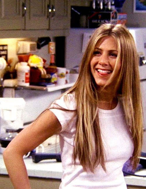 Rachel Greenjennifer Aniston Friends Her Super Long Hair Was My