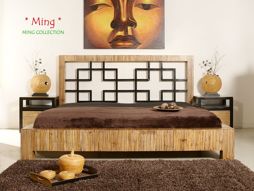 Ming Designer Luxus Bambusbett 200x220 Ming Collection Nil