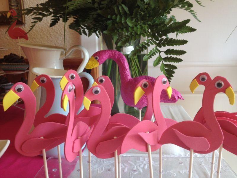 Flamencos para decoraci n de mesa cumplea os paula for Diy decoracion cumpleanos