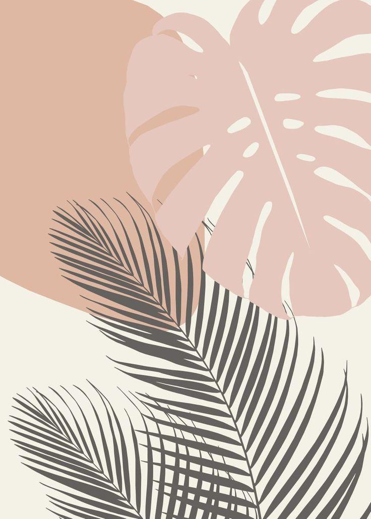 'Monstera Palm Finesse 4' Metal Poster - Anita's &