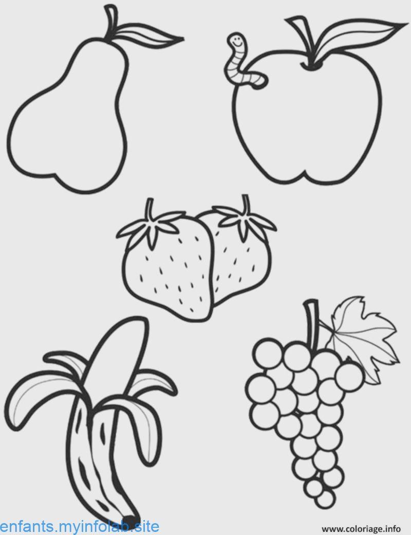 Coloriage alimentation les fruits imprimer  Dessin fruits