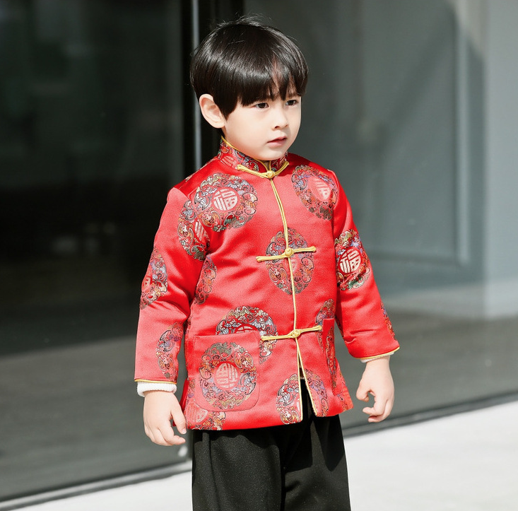 4ef2c7ad2 Traditional Chinese Festival Fu Tang padded Clothing for Boys ...