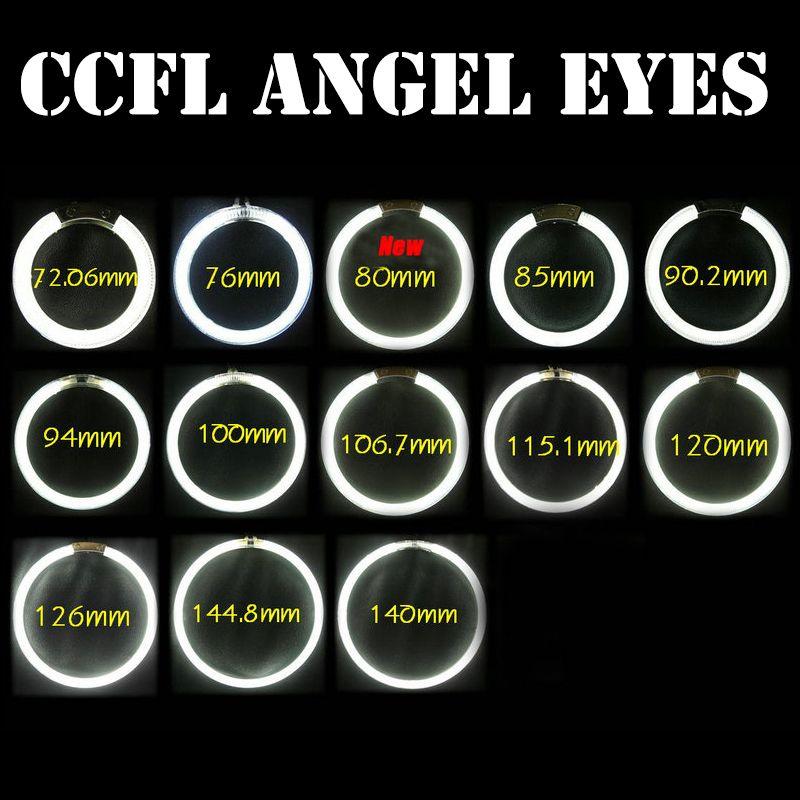 Universal CCFL Angel Eyes Car motorcycle Halo Headlight 4X