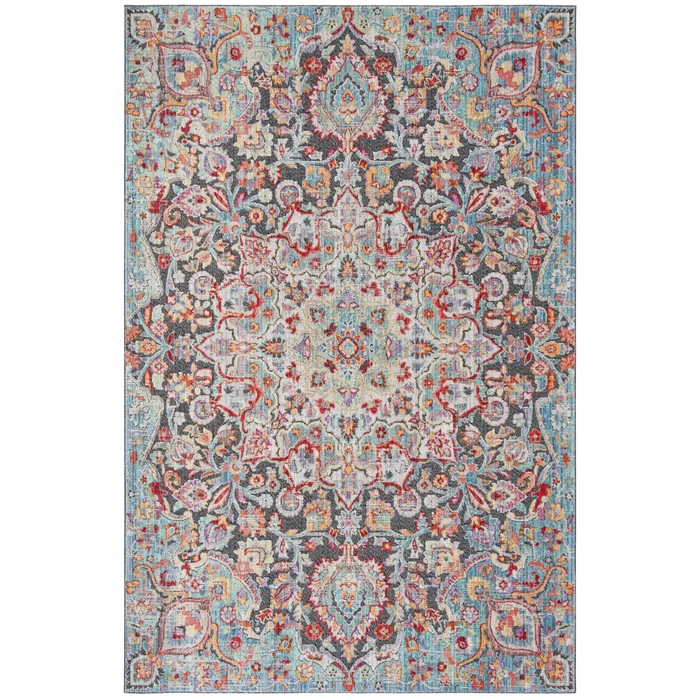 Younes Oriental Blue Gray Red Area Rug Vintage Area Rugs Rugs Blue Gray Area Rug