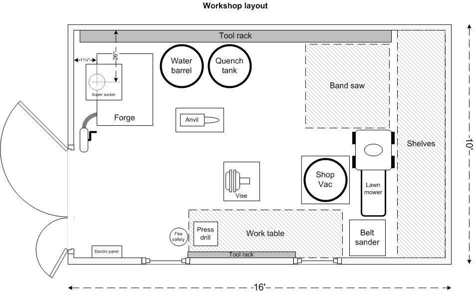 Workshop Plan Căutare Google Workshop Layout Workshop Plans Blacksmith Shop