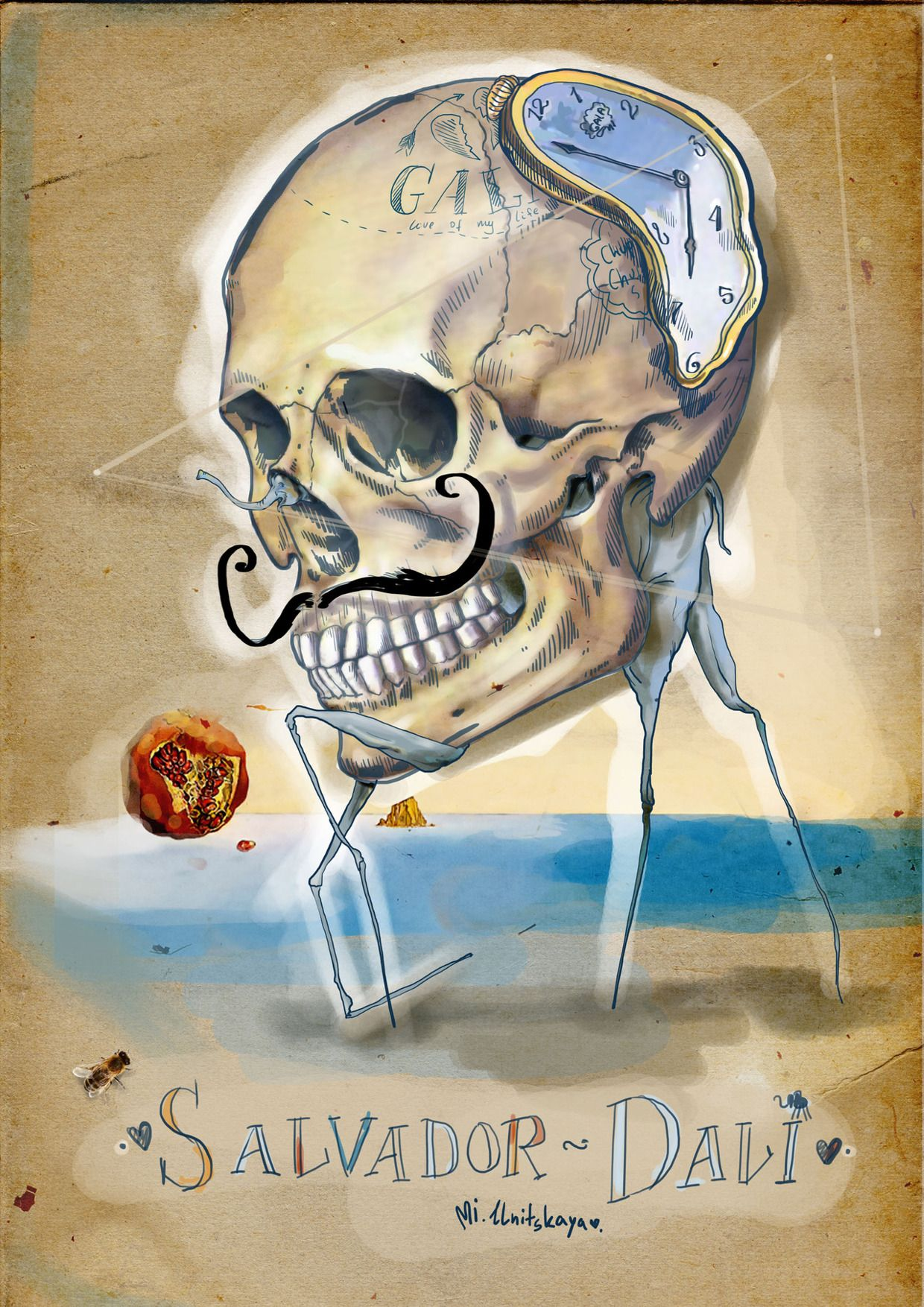 Wall Art Hd Ready To Hang Canvas Lovely The Face Of War Skull By Salvador Dali