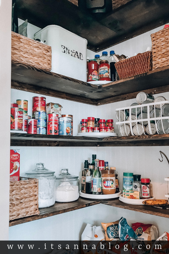 3 Steps to an Organized Kitchen Pantry #pantryshelving