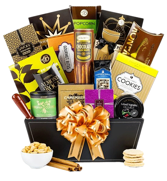 Happy New Year Gift Basket1 Png 550 596 Gourmet Gift Baskets Coffee Gift Baskets Chocolate Gifts Basket