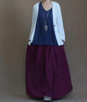 Amaranth skirt  fashon skirts Long Skirts Linen Skirt women dress