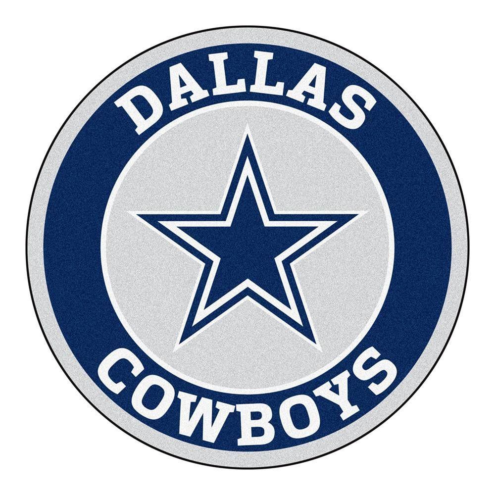 Dallas cowboys nfl round floor mat