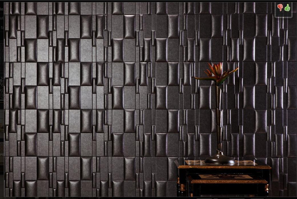 Nappa Tile Peelnstick wall faux leather tile Faux