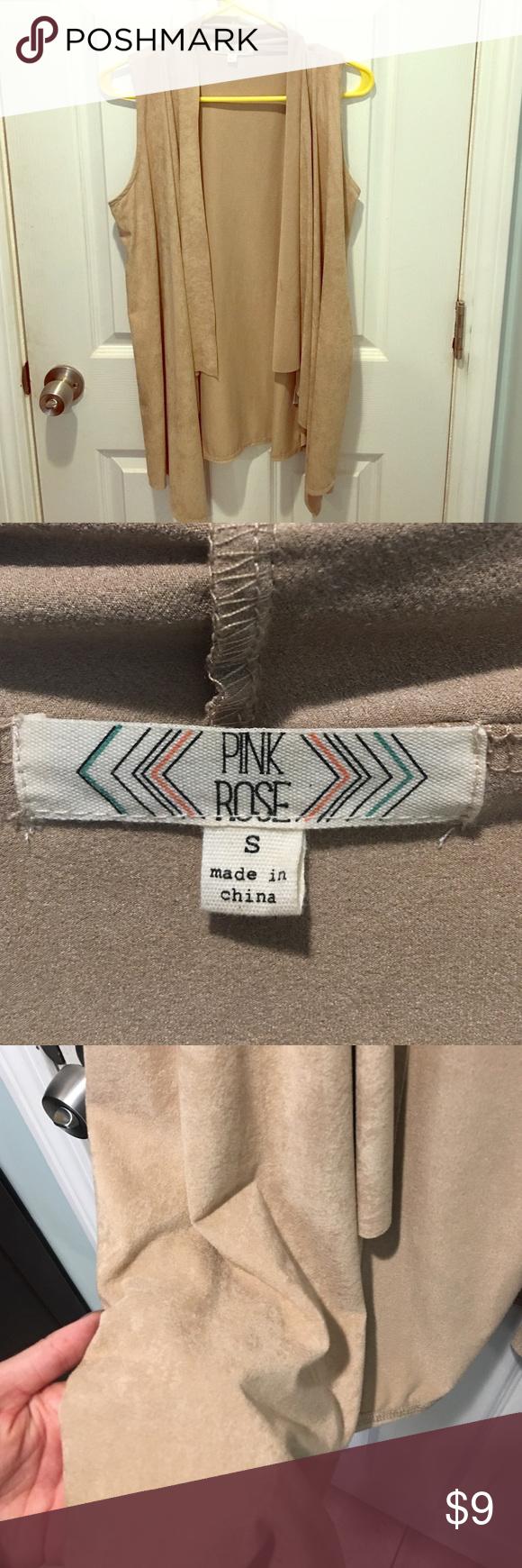 Camel Vest Camel vest. Never worn & good as new! Pink Rose Tops Camisoles