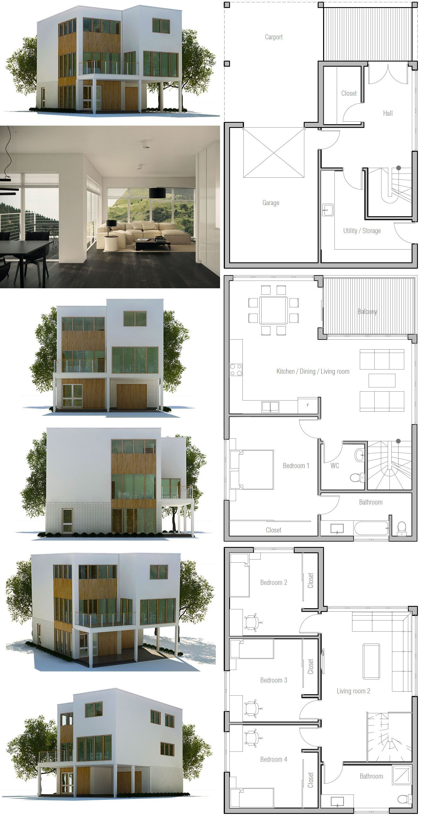 House Plans Small Lot 2020 In 2020 Modern Minimalist House Minimalist House Design Modern House Plans