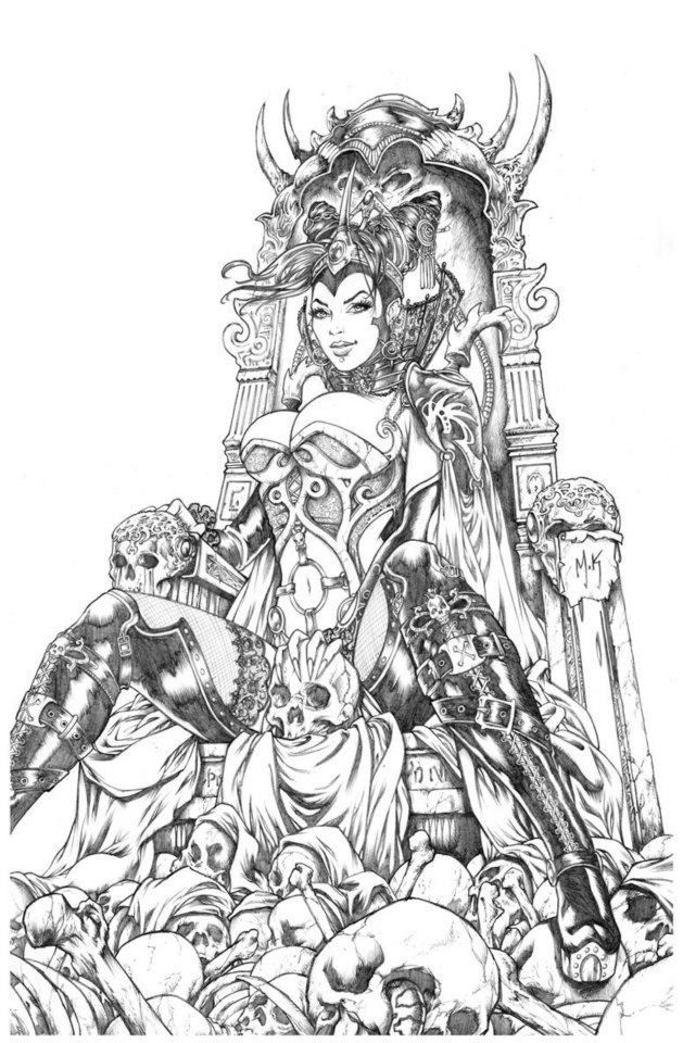 adult fantasy colouring pictures - Google Search | COLOR-SKULLS ...