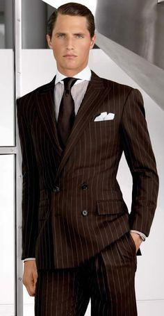 italian men in black pinstripe suit and purple tie - Căutare ...