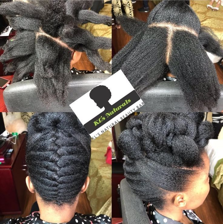 An Easy To Style Natural Hair Bun Using Braiding H