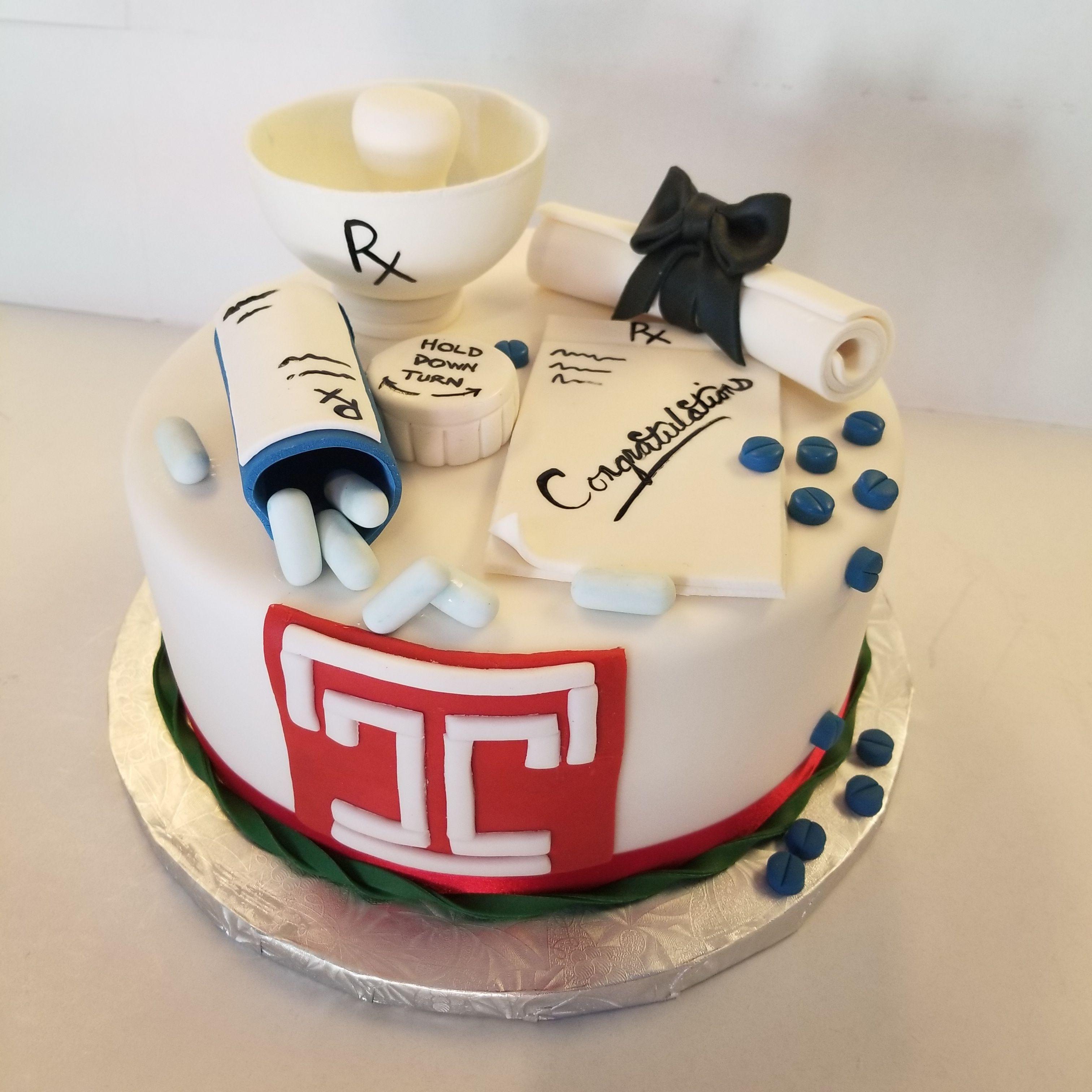 Pharmacy Graduation Cake Graduation Cakes Pharmacy Cake Cake