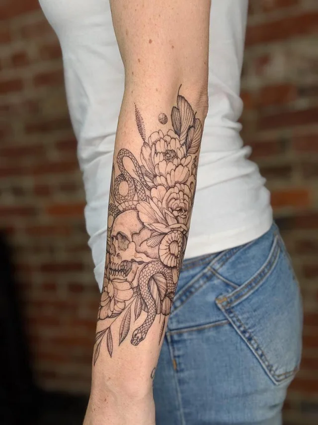 Reddit The Front Page Of The Internet Half Sleeve Tattoos Forearm Skull Tattoo Flowers Sleeve Tattoos