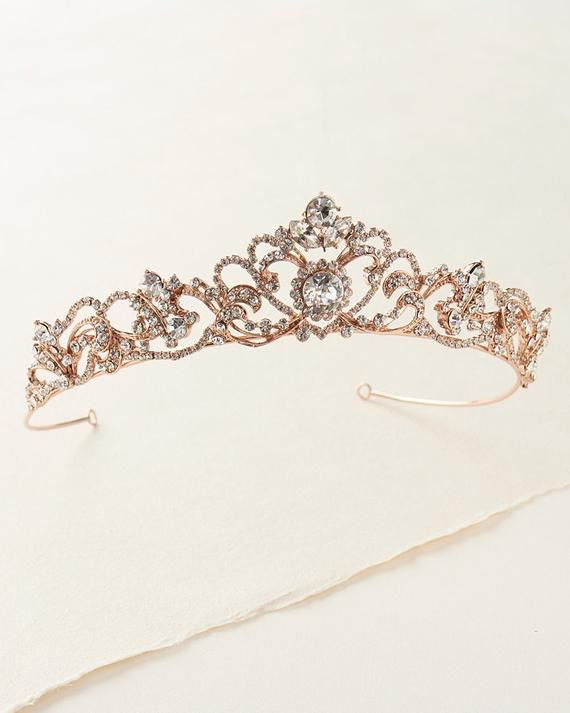 Diamante Crystal Faux Pearl Wedding Tiara Headband Crown Wreaths Elegant In Style Jewelry & Watches