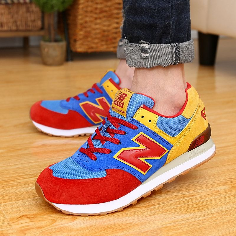 New Balance Superman Blue Red Yellow Unisex Sneakers