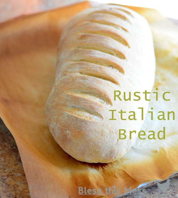 Rustic Italian Bread - A-maz-ing. That is the only way to describe this bread. It is dense and wonderfully chewy on the outside while being super soft and fluffy on the inside.