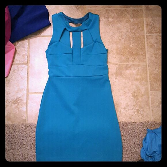 Teal dress Had dry cleaned  ,never worn Charlotte Russe Dresses Midi