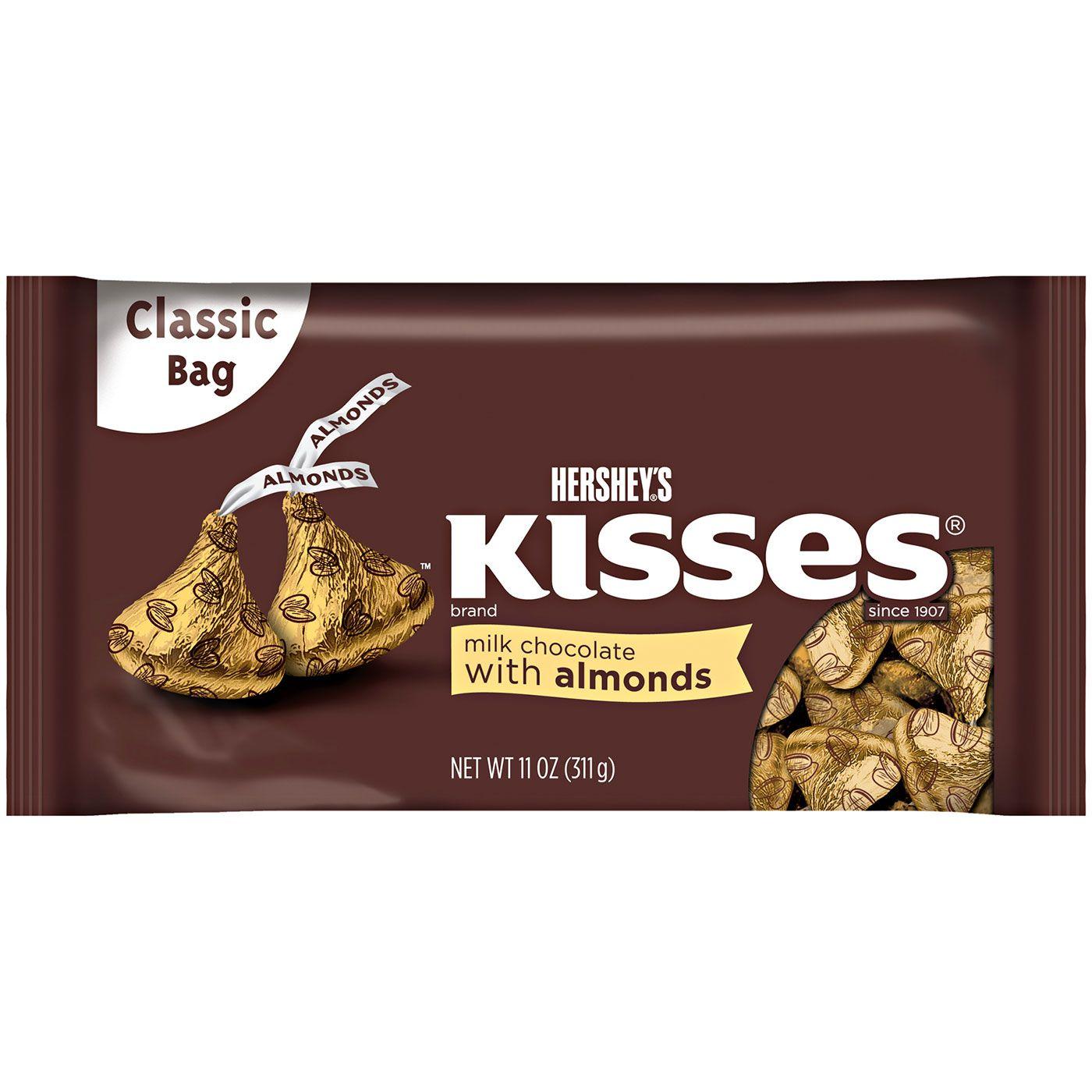 Hershey S Milk Chocolate Kisses With Almonds Hersheysstore Com