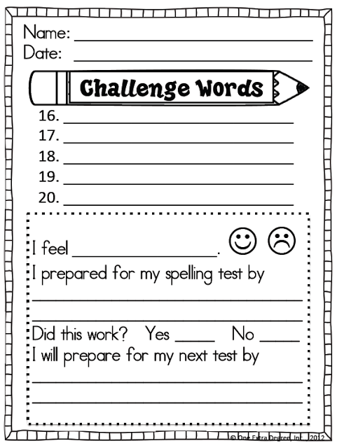 Free Spelling Test Template   Classroom    English