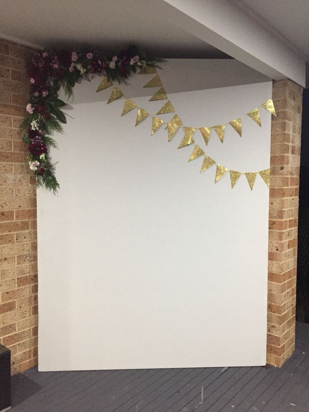 Diy photo booth wall for engagement party graduation