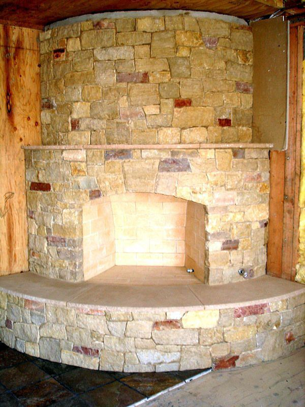 Ok Found It Love This Curved Fireplace Might Not Rock All The Way Up But Love This Even The Rock Curved Fireplace Fireplace Fireplace Remodel