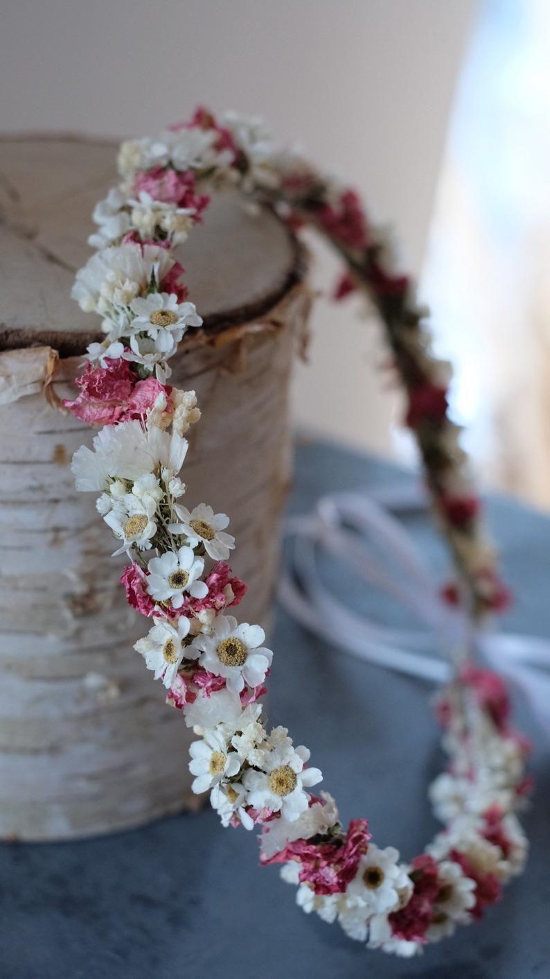 Series Marie, Head Wreath, Flower Wreath, Hair Wreath, Bridal Wreath, Dirndl Wreath, Headdress, Dry Flower Wreath, Flowercrown (Maxibrief)